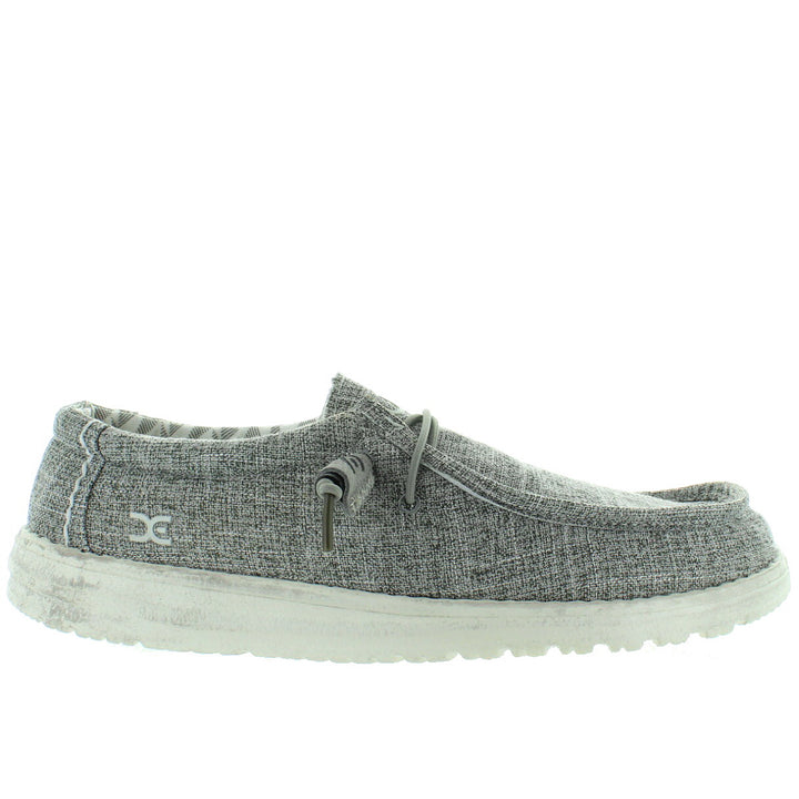 Hey Dude Wally Linen - Iron Textile Athleisure Wallabee