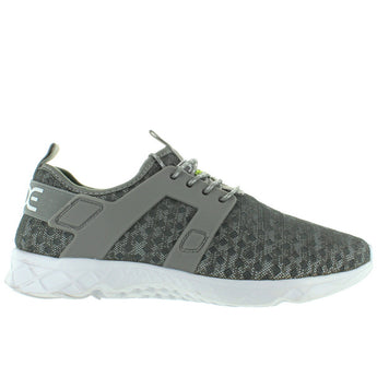 Hey Dude Mistral - Grey Melange Laser-Cut Nylon Lace Sneaker
