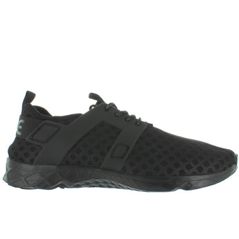 Hey Dude Mistral - Total Black Laser-Cut Nylon Lace Sneaker