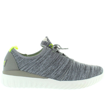 Hey Dude Renova Sox - Grey Multi/White Nylon Lace Sneaker