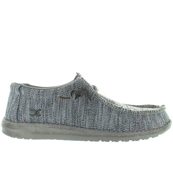 Hey Dude Wally B Sox - Grey Multi Knit Athleisure Wallabee