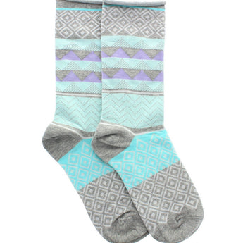 Hue Jeans Sock - Charcoal Heather Geometric Sock
