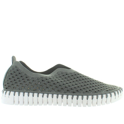 Ilse Jacobsen Tulip 139 - Grey Perforated Athleisure Slip-On