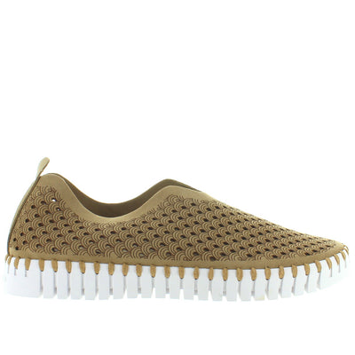 Ilse Jacobsen Tulip 139 - Latte Perforated Athleisure Slip-On