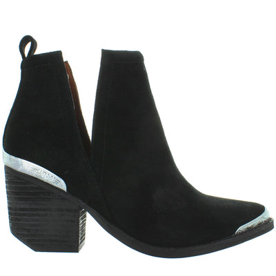 Jeffrey Campbell Cromwell - Black Suede Western Bootie
