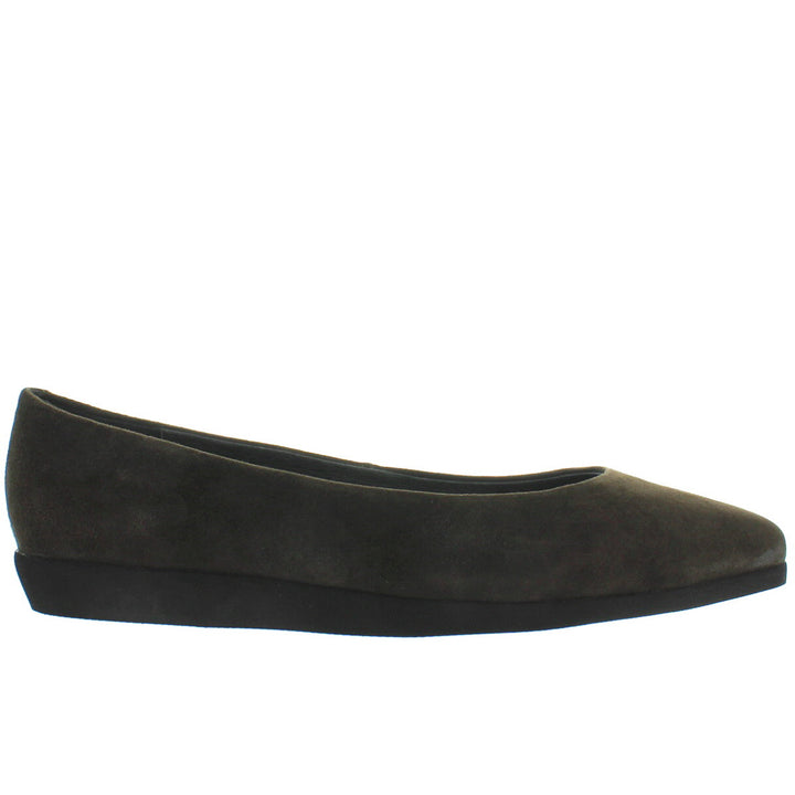 Jeffrey Campbell Kima - Dark Grey Suede Pointed Low Wedge Flat