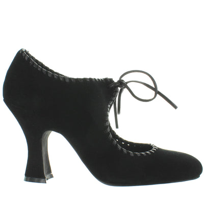 Jeffrey Campbell Newbury - Black Suede Retro Tie-Front Pump