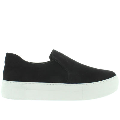 J Slides Acer - Black Suede Slip-On Flatform Sneaker