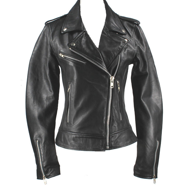 Kixters Demeter - Black Leather Motorcycle Jacket