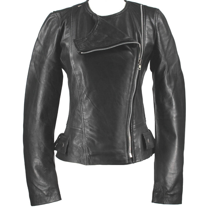 Kixters Leto - Black Leather Motorcycle Jacket