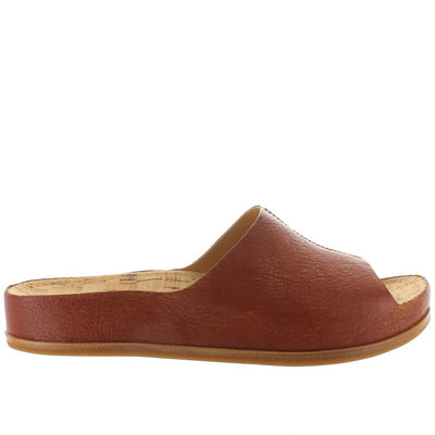 Kork-Ease Tutsi - Ethiopian Brown Leather Footbed Slide Sandal