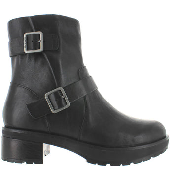Kork-Ease Witz - Black Leather Dual Buckle Engineer Bootie