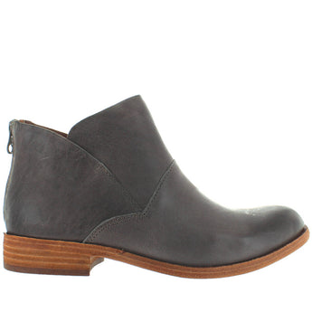 Kork-Ease Ryder - Grey Leather Back Zip Ankle Bootie
