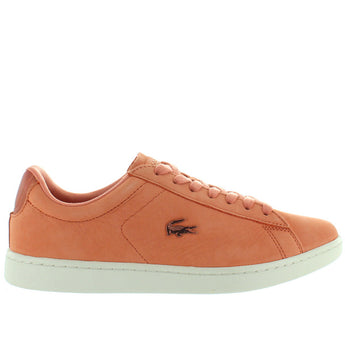 Lacoste Carnaby EVO - Pink/Off White Nubuck Lace Sneaker