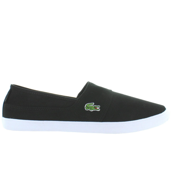 Lacoste Marice - Black Canvas Slip-On Sneaker