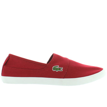 Lacoste Marice - Dark Red Canvas Slip-On Sneaker