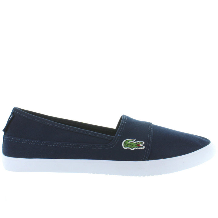 Lacoste Marice - Navy Canvas Slip-On Sneaker