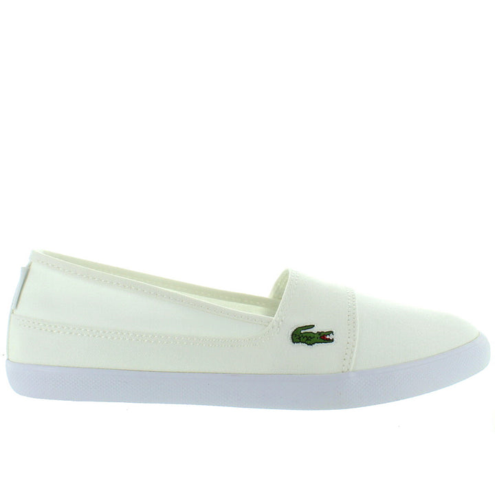 Lacoste Marice - White Canvas Slip-On Sneaker