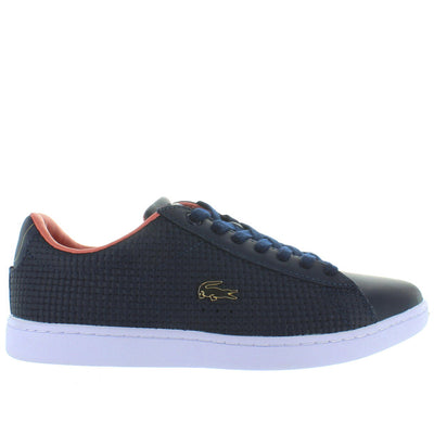 Lacoste Carnaby EVO - Navy/Pink Leather Lace Sneaker