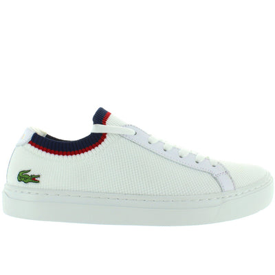 Lacoste La Piquee - White/Navy/Red Textile Classic Lace Sneaker