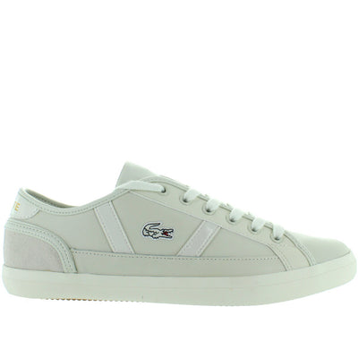 Lacoste Sideline - Off-White Leather Classic Lace Sneaker