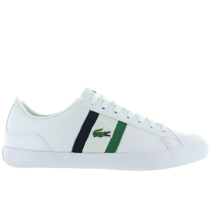 Lacoste Lerond - White/Navy/Green Leather/Synthetic Classic Lace Sneaker