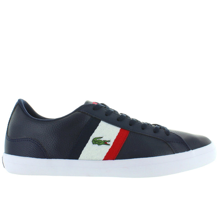 Lacoste Lerond - Navy/White/Red Leather/Synthetic Classic Lace Sneaker