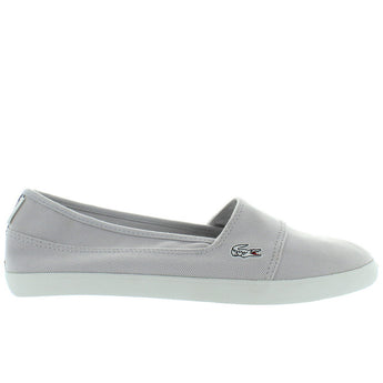 Lacoste Marice - Light Grey/Blue Canvas Slip-On Sneaker