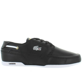 Lacoste Dreyfus - Black Leather Athleisure Boat Sneaker