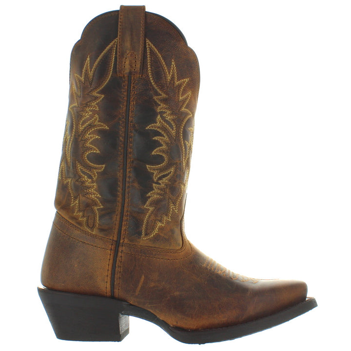 Laredo Malinda - Brown Distressed Leather Snip Toe Cowboy Boot