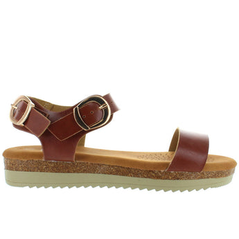 Makers Blair 5B - Tan Low Platform/Wedge Sandal