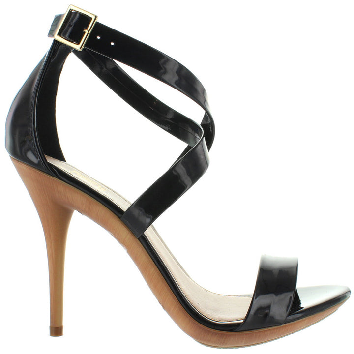 Makers Carioca 2 - Black Patent Stiletto Sandal