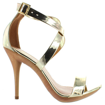 Makers Carioca 2 - Gold Patent Stiletto Sandal