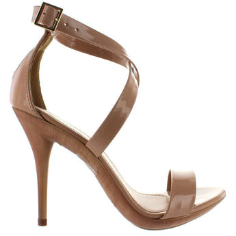 Makers Carioca 2 - Nude Patent Stiletto Sandal