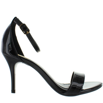 Makers Regi 1 - Black Patent Stiletto Sandal