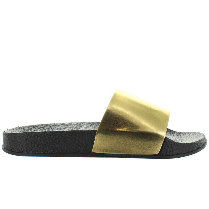 Makers Rian 2 - Gold Footbed Slide Sandal