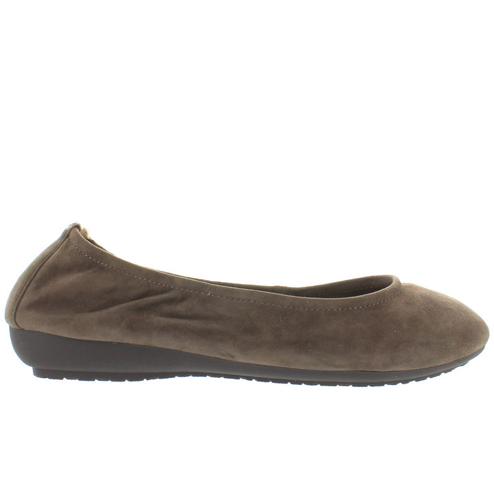 Me Too Janell - Alpaca Suede Elasticized Low Wedge Ballet