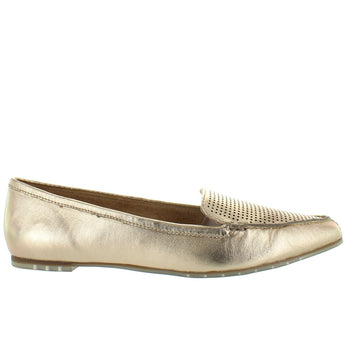 a80940c5e67 Me Too Alegra - Metallic Platinum Perforated Point Toe Loafer