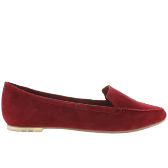 Me Too Audra - Garnet Suede Pointed Toe Loafer