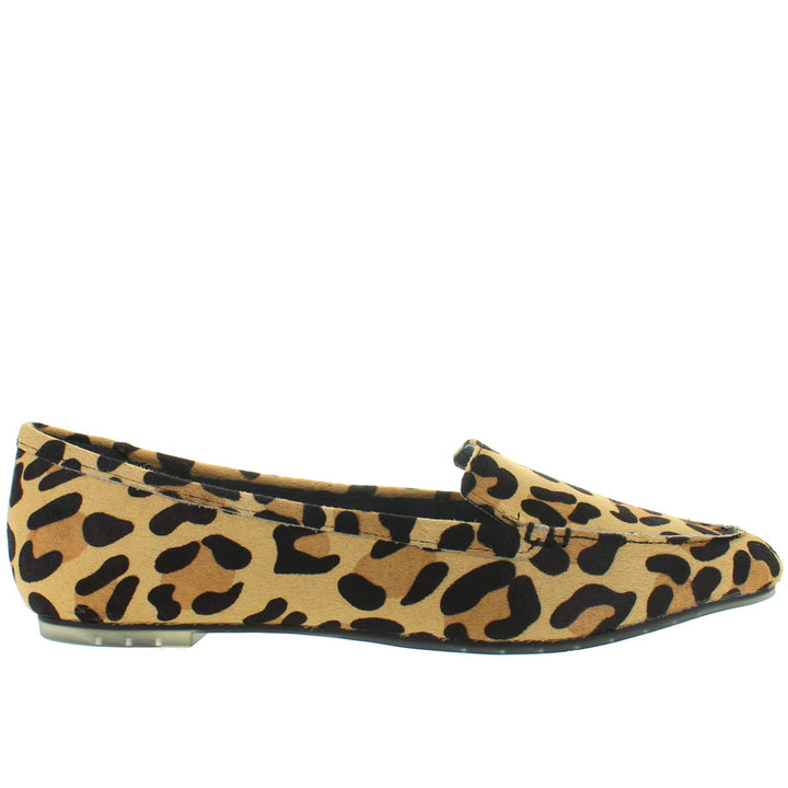 Me Too Audra - Tan Multi Jaguar Print Pointy Loafer