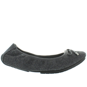 Me Too Halle - Grey Flannel Bow Embellished Elasticized Ballet Flat