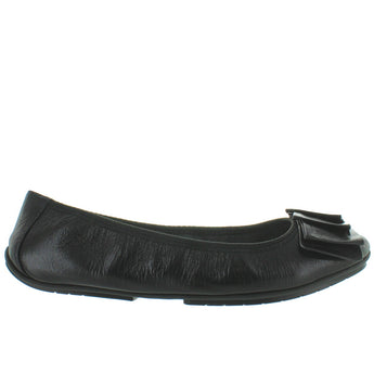 Me Too Lilyanna - Black Leather Embellished Elasticized Ballet Flat