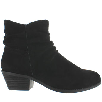 Me Too Zaria - Black Suede Ruched Bootie