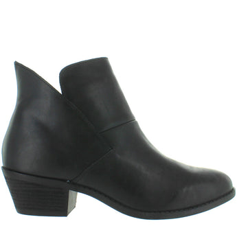 Me Too Zena - Black Cow Leather Pull-On Bootie