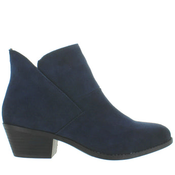 Me Too Zena - Navy Suede Pull-On Bootie