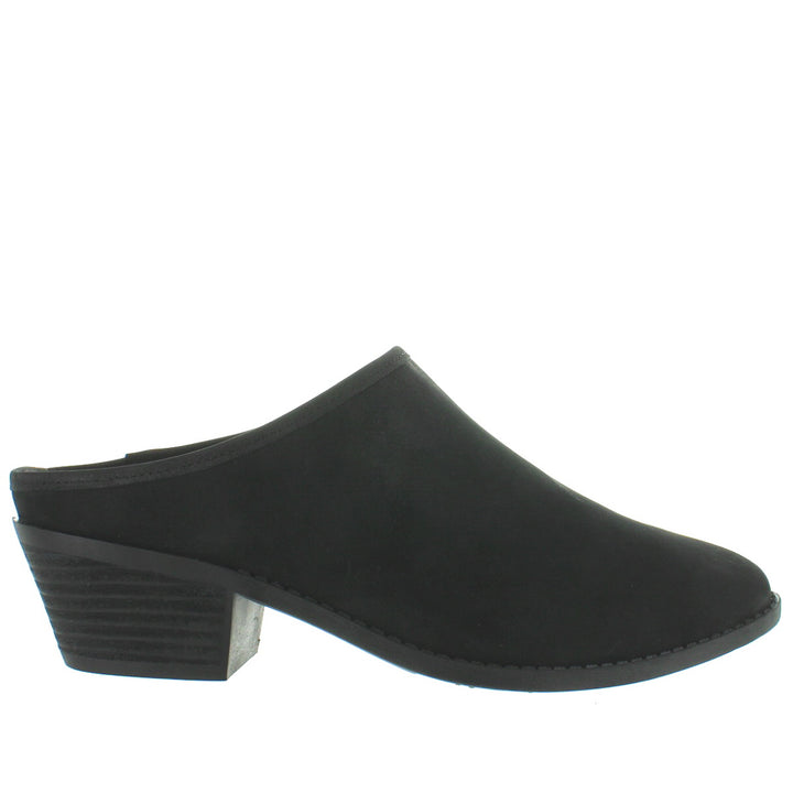 Me Too Zeta - Black Nubuck Closed Toe Mule