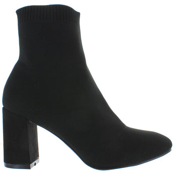 MIA Ramona - Black Stretchy Sock Bootie