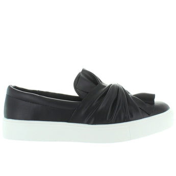 MIA Zoe 2 - Black Leather Twist Slip-On Sneaker