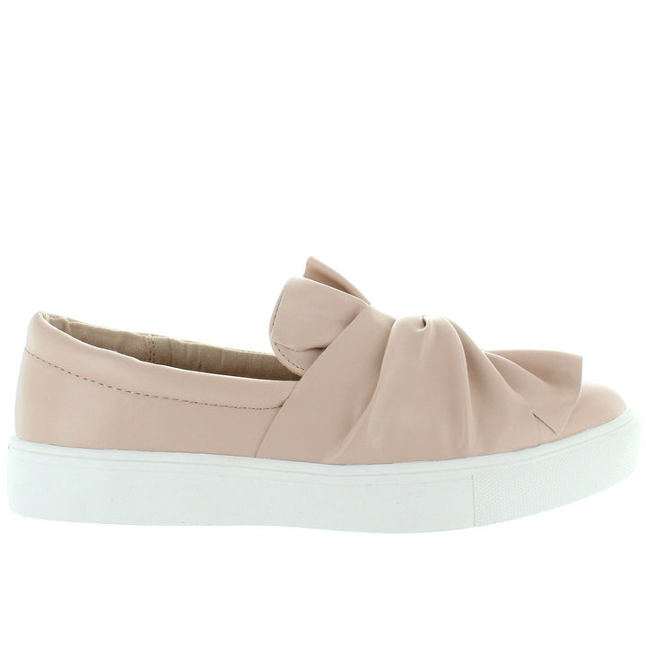 MIA Zoe - Blush Leather Twist Slip-on Sneaker