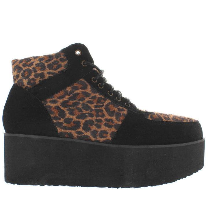 MTNG Petra - Leopard/Black High Platform Oxford